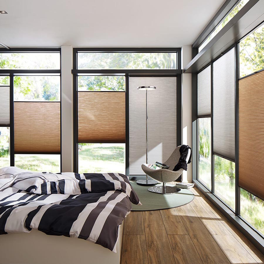 plisstex wabenplissee schlafzimmer