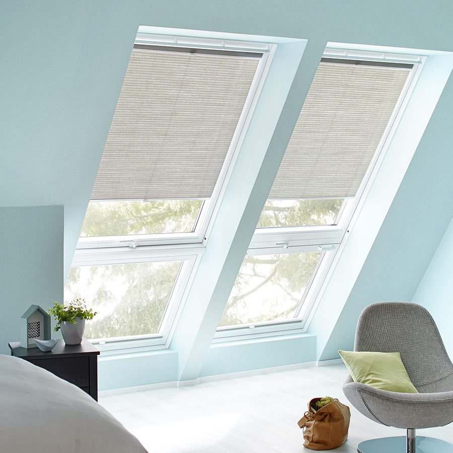 wabenplissee plisstex dachfenster